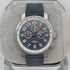 Armitron Men's Tachymeter Leather Quartz Watch